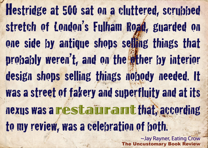 Quotes On Restaurants The Uncustomary Book Review